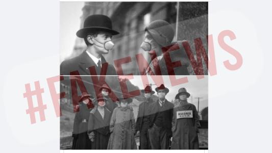 #FakeNews: El tapaboca y la Gripe Española
