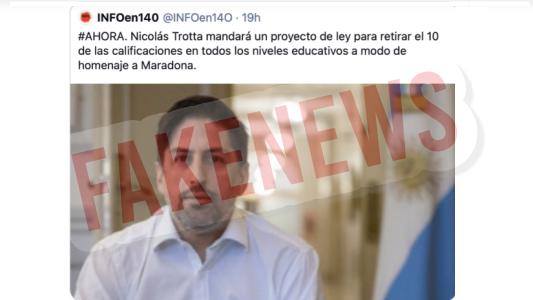 #FakeNews: El 10 de Nicolás Trotta